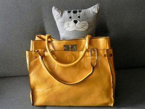 Žlté dámske kabelky